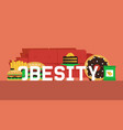 obesity concept banner make vector image