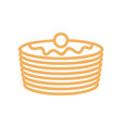 pancakes line icon symbol for bakery production vector image vector image