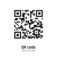 qr code for smartphone scanning isolated on white vector image