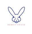 rabbit and window in it design template vector image