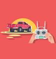 radio controlled car machine vector image vector image