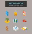 recreation isometric icon vector image