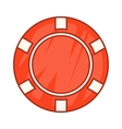 Red casino chip icon cartoon style vector image vector image