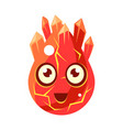 red lava element egg-shaped cute fantastic vector image vector image