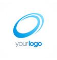 round circle loop logo vector image vector image