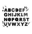 sacandinavian style decorative alphabet vector image vector image