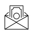 salary in envelope icon vector image