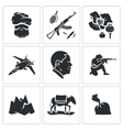 Set of Afghanistan Icons vector image vector image