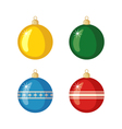 Set of Christmas balls icons in flat style vector image vector image