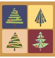Set of four Christmas trees vector image vector image