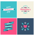 set valentines day typographic greeting cards vector image vector image