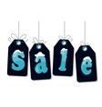 Snow sale tag hangig vector image vector image