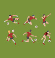 soccer players sport characters football gamers vector image vector image