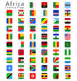 square africa national flags vector image