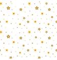 Stars seamless pattern white 3D retro vector image vector image