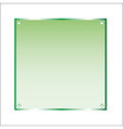 Sticker green glass isolated object vector image vector image