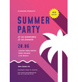 summer beach party flyer or poster template modern vector image vector image