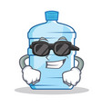 super cool gallon character cartoon style vector image