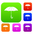 umbrella set collection vector image vector image