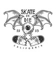 vintage skateboarding logotype vector image vector image