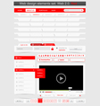 Web design template set 20 vector | Price: 3 Credits (USD $3)