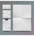 White folded paper set and paperclip vector image vector image