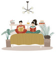 young loving couple spending time together vector image vector image