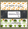 halloween party banners pumpkin ghost holiday vector image