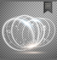 white light effect rings background vector image