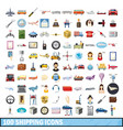 100 shipping icons set cartoon style vector image vector image