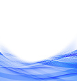 Abstract blue dot wave border background vector image vector image