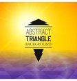 Abstract yellow sunset with purple triangle field vector image vector image