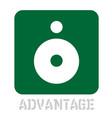 advantage concept icon on white