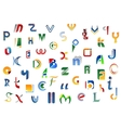 Alphabet letters and symbols vector image vector image