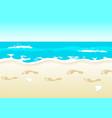 beach walk vector image vector image