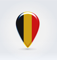 Belgium icon point for map vector image vector image
