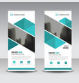 blue abstract triangle business roll up banner vector image vector image