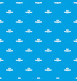 brazil coffee pattern seamless blue vector image vector image