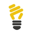 bulb light ecology isolated icon vector image vector image