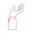 business hand side view gesture hold on in dark vector image vector image