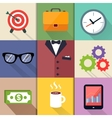 Business Suits Icons Set vector image vector image
