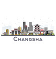 changsha china city skyline with gray buildings vector image vector image