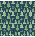 Christmas green tree seamless pattern vector image vector image