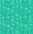 Christmas Seamless doodle background Green vector image