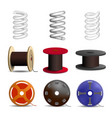coil spring icon set realistic style vector image vector image