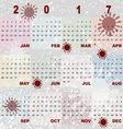 Color splash template of 2017 calendar vector image vector image
