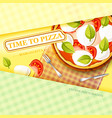 colorful italian food template vector image vector image
