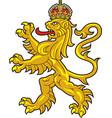 crowed heraldic lion vector image vector image