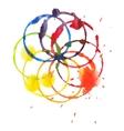 Decorative color circle splash watercolor and vector image