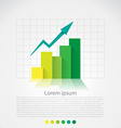 Flat design chart vector image